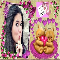 moldura-casal-apaixonado-de-ursos-e-rosas