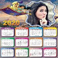 moldura-calendario-2020-aladdin-com-foto