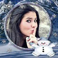 moldura-gratis-boneco-de-neve-feliz