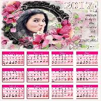 calendario-de-flores-rosas-2017
