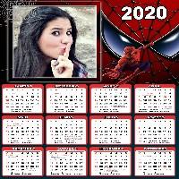 montar-foto-gratis-calendario-2020-homem-aranha