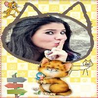 moldura-divertida-gato