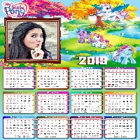 moldura-infantil-my-little-pony-calendario-2019