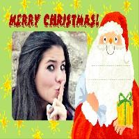 foto-moldura-merry-christmas-com-o-papai-noel