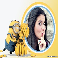 moldura-efeito-para-fotos-com-minion-e-bananas