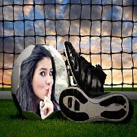 montagem-de-fotos-online-bola-rede-e-botas-de-futebol