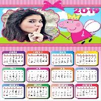 moldura-calendario-2019-peppa-pig-fada-madrinha