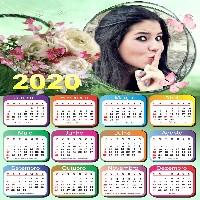calendario-2020-moldura-floral