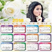 moldura-de-fotos-para-calendario-2018-com-rosas-brancas