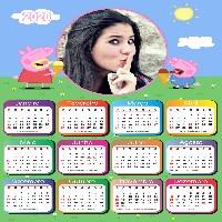 moldura-com-calendario-2020-peppa-pig