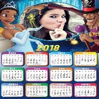 calendário-2018-a-princesa-tiana-e-o-sapo