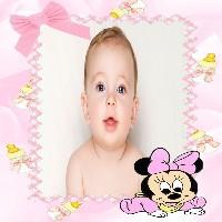 moldura-rosa-com-baby-minnie-disney-com-mamadeiras