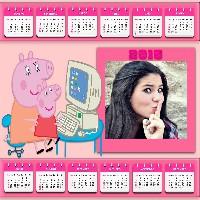 montagem-de-fotos-online-em-calendario-peppa-pig-2015