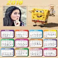 moldura-online-para-calendario-com-bob-esponja-2018