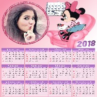moldura-para-fotos-com-calendario-2018-da-minnie-em-rosa