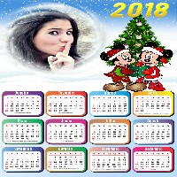 calendario-2018-moldura-mickey-e-minnie-mouse-no-natal