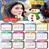 montar-foto-em-calendario-2021-com-boneco-de-neve