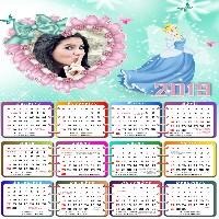 moldura-infantil-cinderela-disney-calendario-2019