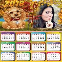 montar-foto-em-calendario-2018-com-cachorrinho-outono