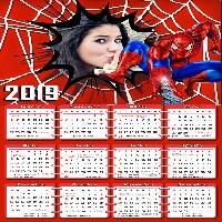 moldura-digital-calendario-2019-homem-aranha