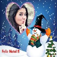montagem-de-fotos-com-boneco-de-neve-e-feliz-natal