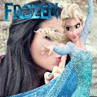 montagem-de-fotos-com-frozen-a-rainha-do-gelo