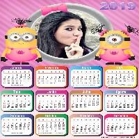 foto-moldura-calendario-2019-com-minions-em-rosa