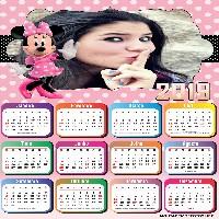 montar-foto-em-calendario-2019-rosa-com-minnie
