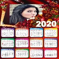 calendario-2020-com-flores-vermelhas