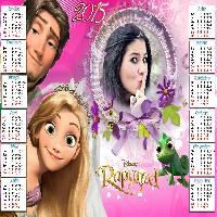 molduras-para-fotos-online-calendario-infantil-rosa-rapunzel-2015