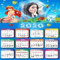 moldura-infantil-a-pequena-sereia-calendario-2020