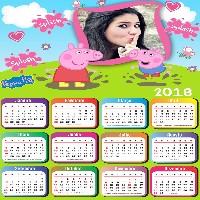 moldura-calendario-2018-peppa-pig