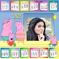 montagens-de-fotos-gratis-calendario-peppa-pig-2015