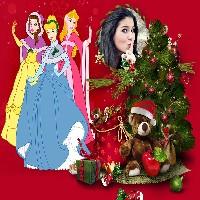 moldura-princesas-disney-natalinas