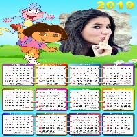 moldura-infantil-dora-aventureira-com-calendario-2019