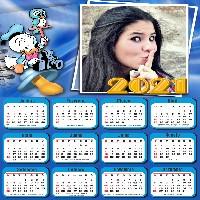 moldura-pato-donald-com-calendario