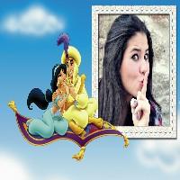 aladdin-e-jasmine-foto-moldura