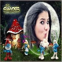 moldura-de-foto-com-os-smurfs
