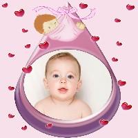 moldura-de-fotos-para-bebe-menina