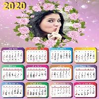 moldura-png-calendario-2020-flores-cor-de-rosa