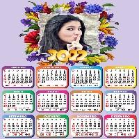 colocar-foto-em-moldura-de-flores-com-calendario-2022