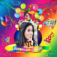 moldura-de-aniversario-colorido-e-palhaco-feliz