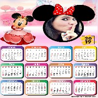 moldura-infantil-princesa-minnie-calendario-2019