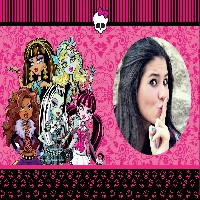 moldura-pink-monster-high
