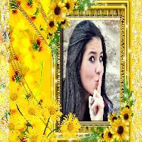 moldura-de-fotos-flores-amarelas