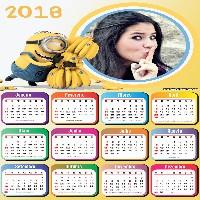 montagem-de-fotos-gratis-com-calendario-dos-minions-2018