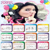 calendario-com-foto-2020-minnie-rosa-bexigas