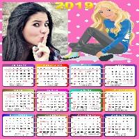 montagem-de-fotos-calendario-2019-infantil-barbie