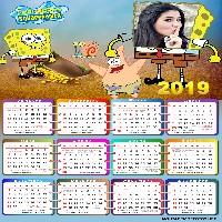 moldura-para-calendario-2019-com-bob-esponja