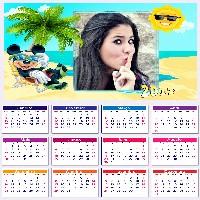 fotomontagem-de-calendario-2017-com-mickey-na-praia